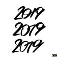 chinese calligraphy for 2019 new year of the pig vector image vector image