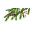 christmas tree decor vector image vector image