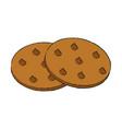 cookies delicious snack vector image vector image