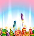 Creative design of diwali vector image vector image
