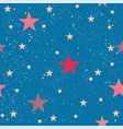 creative hand drawn seamless pattern with stars vector image vector image