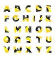 creative yellow and black font for your vector image vector image