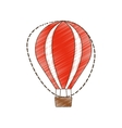 drawing airballoon recreation vacation travel vector image