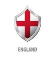 england flag on metal shiny shield vector image