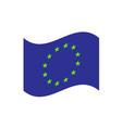 european union waving flag vector image vector image