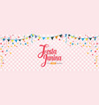 festa junina cover background template design vector image vector image