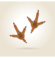 Footprint Stylized Rooster in Color vector image