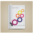 gear symbol on book cover vector image vector image