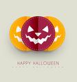 halloween greeting design vector image