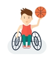 Handicapped athlete basketball vector image