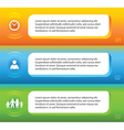 horizontal banner Social media people vector image vector image