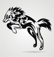 Jumping Wolf Tribal vector image vector image