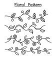 line floral decorative graphic design vector image