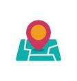 location icon map pin vector image vector image