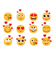 love eyes emoticons faces vector image vector image
