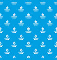 luxury cognac pattern seamless blue vector image vector image