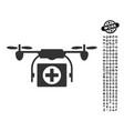 medical drone icon with job bonus vector image vector image