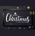 merry christmas text and new year xmas background vector image vector image