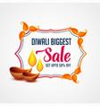 modern happy diwali sale banner template design vector image