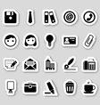 Office icons on stikers vector image vector image