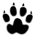 paw logo silhouette vector image vector image