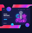 rock music banner design template rock vector image vector image