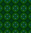 Seamless pattern green abstract shape color vector image vector image