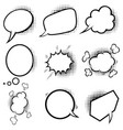 Set empty comic style speech bubbles with