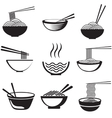 Set of noodles vector image