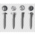 set of screws bolts nuts and rivets top and vector image vector image