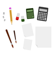set of tools for school vector image