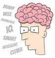 Smart guy vector image vector image