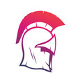 spartan helmet element for logo or print vector image vector image
