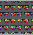 sunglasses multicolored glasses isolated on gray vector image vector image