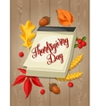 thanksgiving day greeting card background vector image vector image