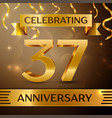 thirty seven years anniversary celebration design vector image vector image