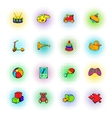 Toys icons set comics style vector image vector image
