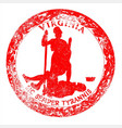 virginia seal rubber stamp vector image vector image