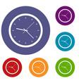 wall clock icons set vector image vector image