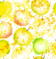 watercolor apple seamless background vector image vector image