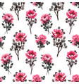 watercolor chinese rose pattern vector image vector image