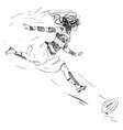 woman chasing ball vintage vector image vector image