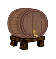 Wooden barrel isolated on white vector image vector image