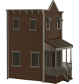 wooden two story house for the town Wild West vector image
