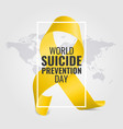 world suicide prevention day vector image vector image