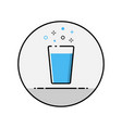 flat line glass icon vector image