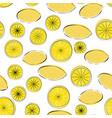 seamless pattern of yellow cartoon lemon vector image