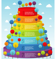 Rainbow pyramid with trees vector image