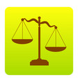 scales of justice sign brown icon at vector image