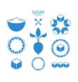 Sugar Icon set vector image